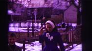 1974: child demonstrates her baton skills LYNBROOK, NEW YORK Stock Footage