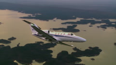 Cessna Citation M2 Air To Air Break to Land Stock Footage