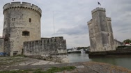 La Rochele France city Harbor Stock Footage