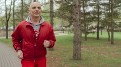 Sporty Pensioner Stock Footage