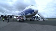The New Boeing 747-8F Stock Footage