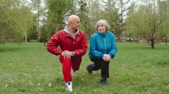 Senior Couple Improving Flexibility Stock Footage