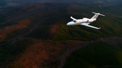 Cessna Citation M2 Air to Air Straight WS Stock Footage