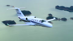 Cessna Citation M2 Air to Air Fly By MCU Stock Footage