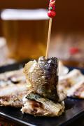 Spanish sardines served as tapas Stock Photos