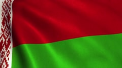 Belarus Flag Loop Video Animation 4K Stock Footage