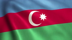 Azerbaijan Flag Loop Video Animation 4K Stock Footage