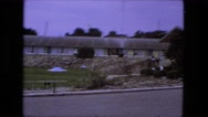 1976: supermarket style building in off highway residential area FORT WAYNE Stock Footage
