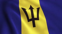 Barbados Flag Loop Video Animation 4K Stock Footage