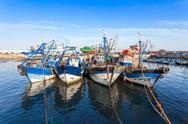 Fishing boats, Essaouira Stock Photos