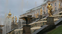 ST. PETERSBURG, RUSSIA Grand Cascade fountains Stock Footage