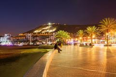 Agadir at night Stock Photos
