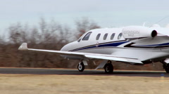Cessna Citation M2 Taxi Away Stock Footage