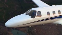 Cessna Citation M2 Zoom Out From Nose Stock Footage