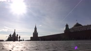 Tourists visiting Moscow Kremlin and Red square. Russian famous landmarks and Stock Footage