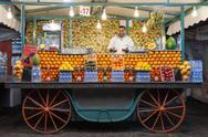 Orange juice stall Stock Photos