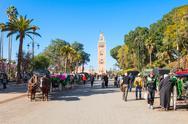 Horse carriage, Marrakesh Stock Photos