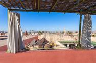 Marrakesh aerial view Stock Photos