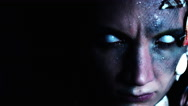 4k Halloween Shot of a Horror Woman Mermaid Looking Evil, dolly cam Stock Footage