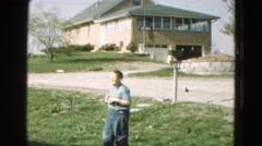 1968: children are seen having fun in garden area DILLER, NEBRASKA Stock Footage