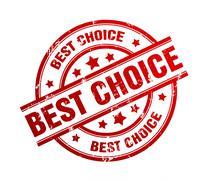 Best choice rubber stamp illustration Stock Illustration