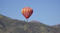 Hot air balloons at Aloft Balloon Festival in Park City Utah Stock Footage