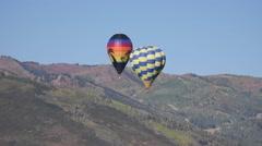 Hot air balloons at Aloft Balloon Festival in Park City Utah Stock Footage