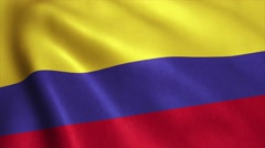 Colombia Flag Loop Video Animation 4K Stock Footage