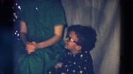 1968: an indoor family party is seen DILLER, NEBRASKA Stock Footage