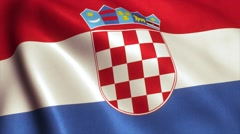 Croatia Flag Loop Video Animation 4K Stock Footage