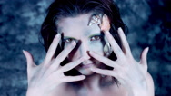 4k Halloween Shot of a Woman Mermaid Posing with her Hands Stock Footage