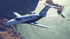 Cessna Citation Mustang Air to Air Sparkel Water Stock Footage