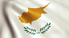 Cyprus Flag Loop Video Animation 4K Stock Footage