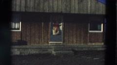 1968: front of house DILLER, NEBRASKA Stock Footage