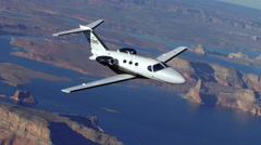 Cessna Citation Mustang Air to Air Banking Right Stock Footage
