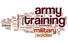 Army training word cloud Stock Illustration
