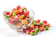 The colorful jelly candies Stock Photos