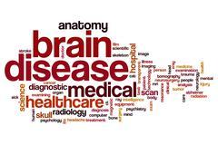 Brain disease word cloud Stock Illustration