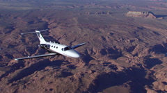 Cessna Citation Mustang Air to Air Straight Back 45 Degrees Stock Footage