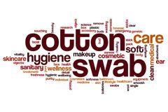 Cotton swab word cloud Stock Illustration