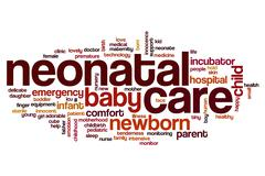 Neonatal care word cloud Stock Illustration