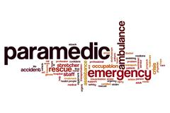 Paramedic word cloud Stock Illustration