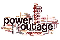 Power outage word cloud Stock Illustration