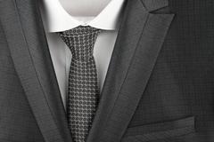 Classic suit, shirt and tie, close-up Stock Photos