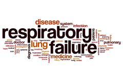 Respiratory failure word cloud Stock Illustration