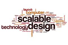 Scalable design word cloud Stock Illustration