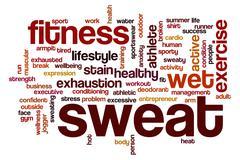 Sweat word cloud Stock Illustration
