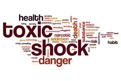 Toxic shock word cloud Stock Illustration