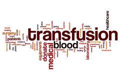 Transfusion word cloud Stock Illustration