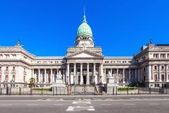Argentine National Congress Palace Stock Photos